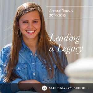 Saint Marys Annual Report cover